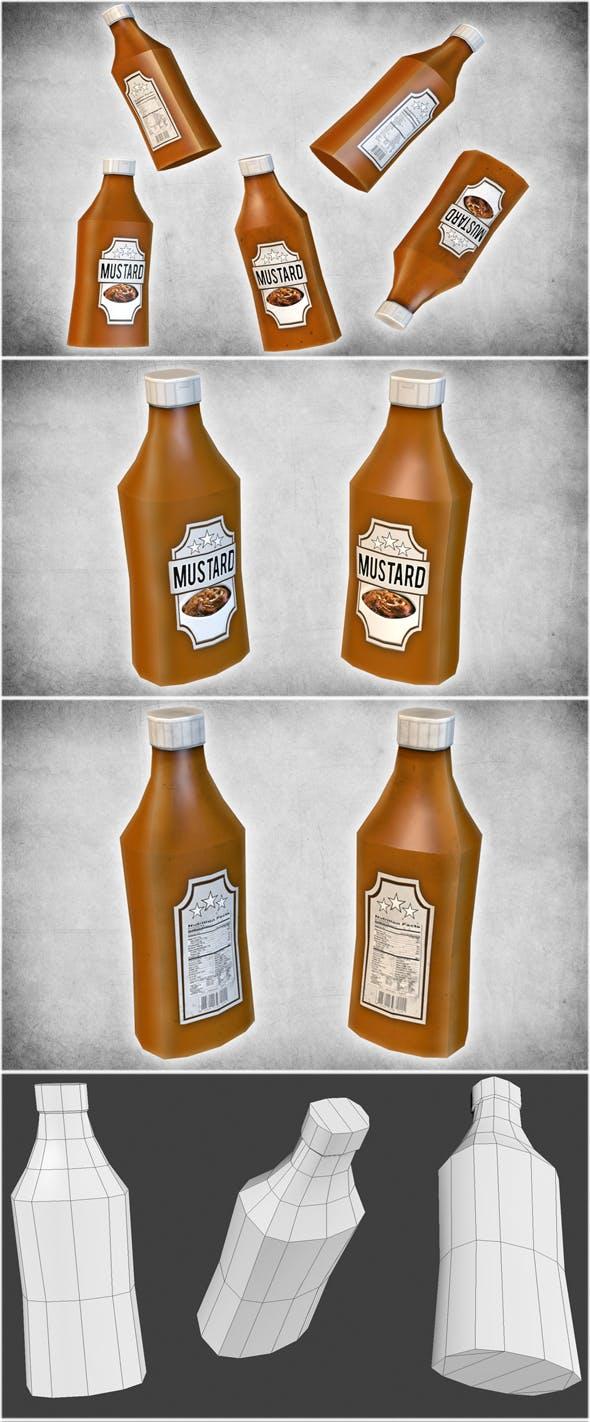 Mustard Bottle - 3DOcean Item for Sale