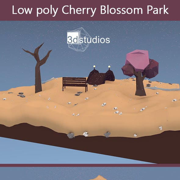 Low Poly Cherry Blossom Park