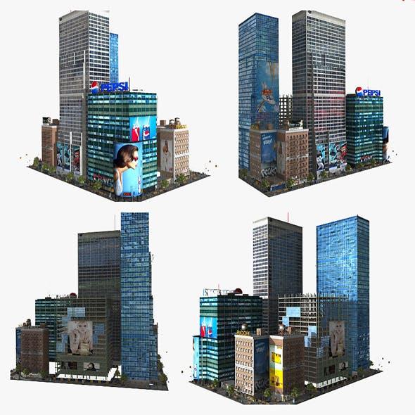3D Lowpoly City Block