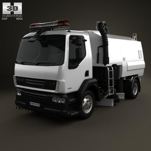 DAF LF Road Cleaner 2011 - 3DOcean Item for Sale