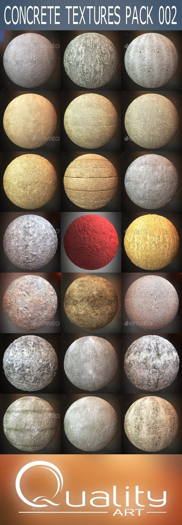 Concrete Textures Pack 002 - 3DOcean Item for Sale