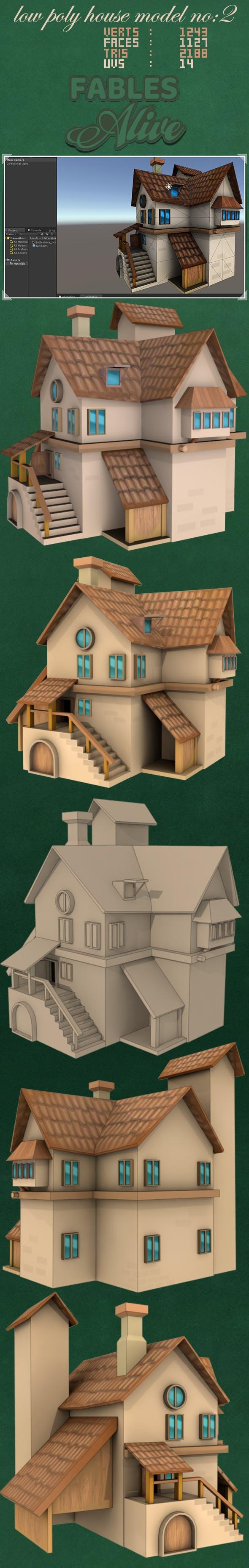 House Model 2 - (fablesalive game asset) - 3DOcean Item for Sale