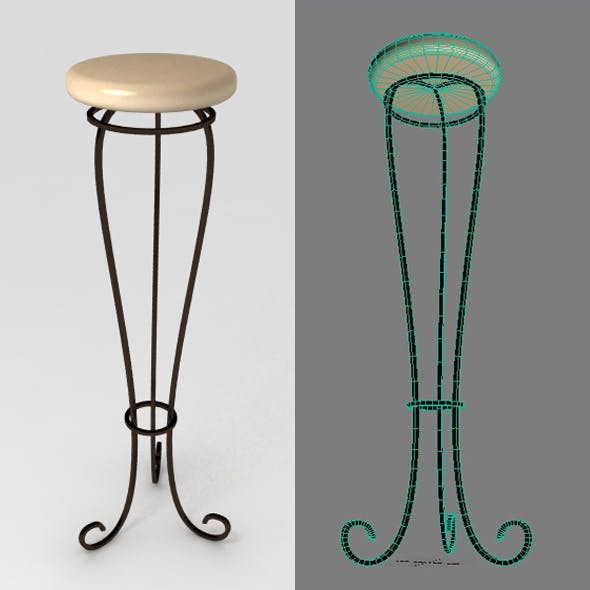 Decorative forged stand
