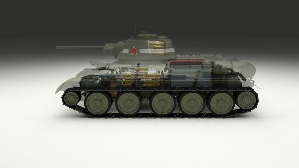 T-34/76 Interior/Engine Bay Full Camo - 3DOcean Item for Sale