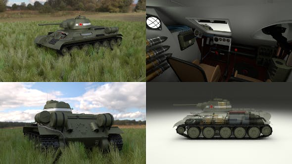 T-34/76 Interior/Engine Bay Full HDRI - 3DOcean Item for Sale