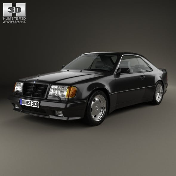 Mercedes-Benz E-class AMG widebody coupe 1988 - 3DOcean Item for Sale