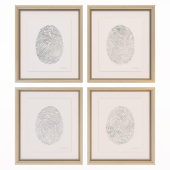 Charlotte Morgan Hand Painted Silver Fingerprints