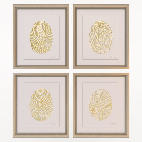 Charlotte Morgan Hand Painted Gold Fingerprints