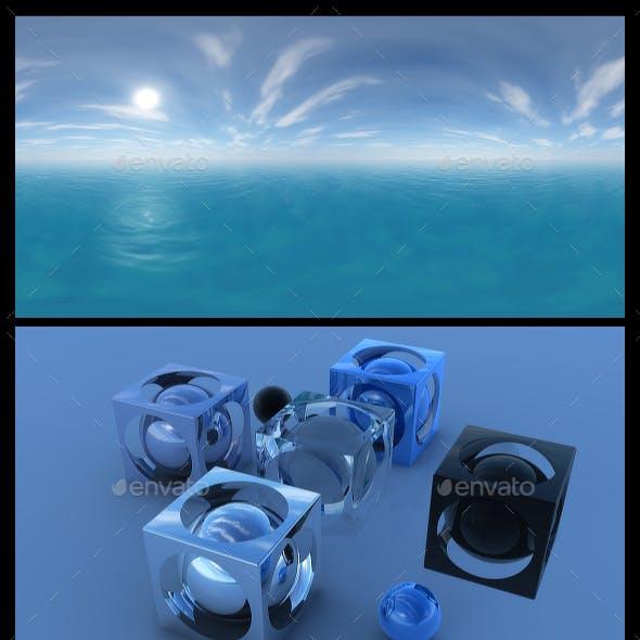 Ocean Blue Clouds 10 - HDRI