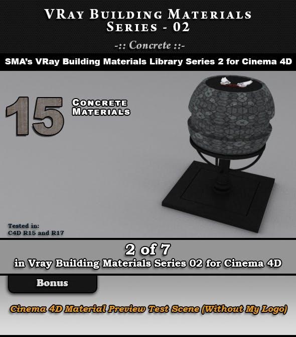 VRay Building Materials S02 - Concrete - 3DOcean Item for Sale