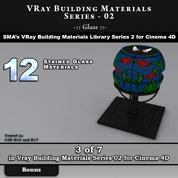 VRay Building Materials S02 - Glass for C4D