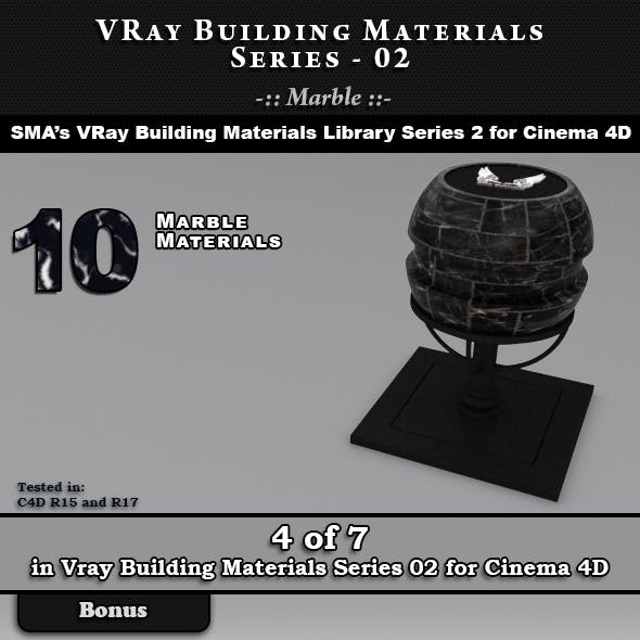 VRay Building Materials S02 - Marble for C4D