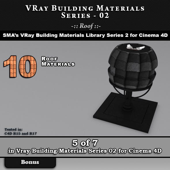 VRay Building Materials S02 - Roof for C4D