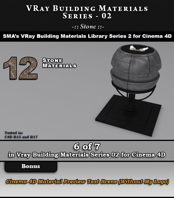 VRay Building Materials S02 - Stone for C4D - 3DOcean Item for Sale