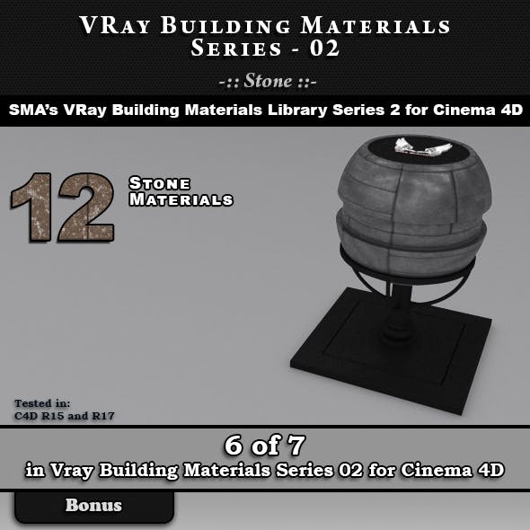 VRay Building Materials S02 - Stone for C4D