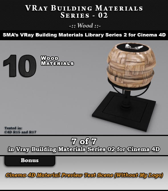 VRay Building Materials S02 - Wood for C4D - 3DOcean Item for Sale