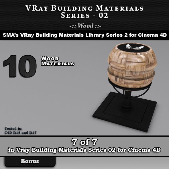 VRay Building Materials S02 - Wood for C4D