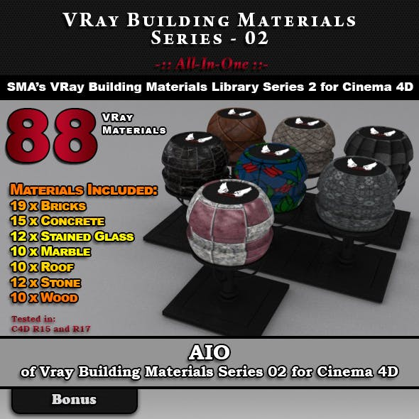 VRay Building Materials S02 - AIO for C4D