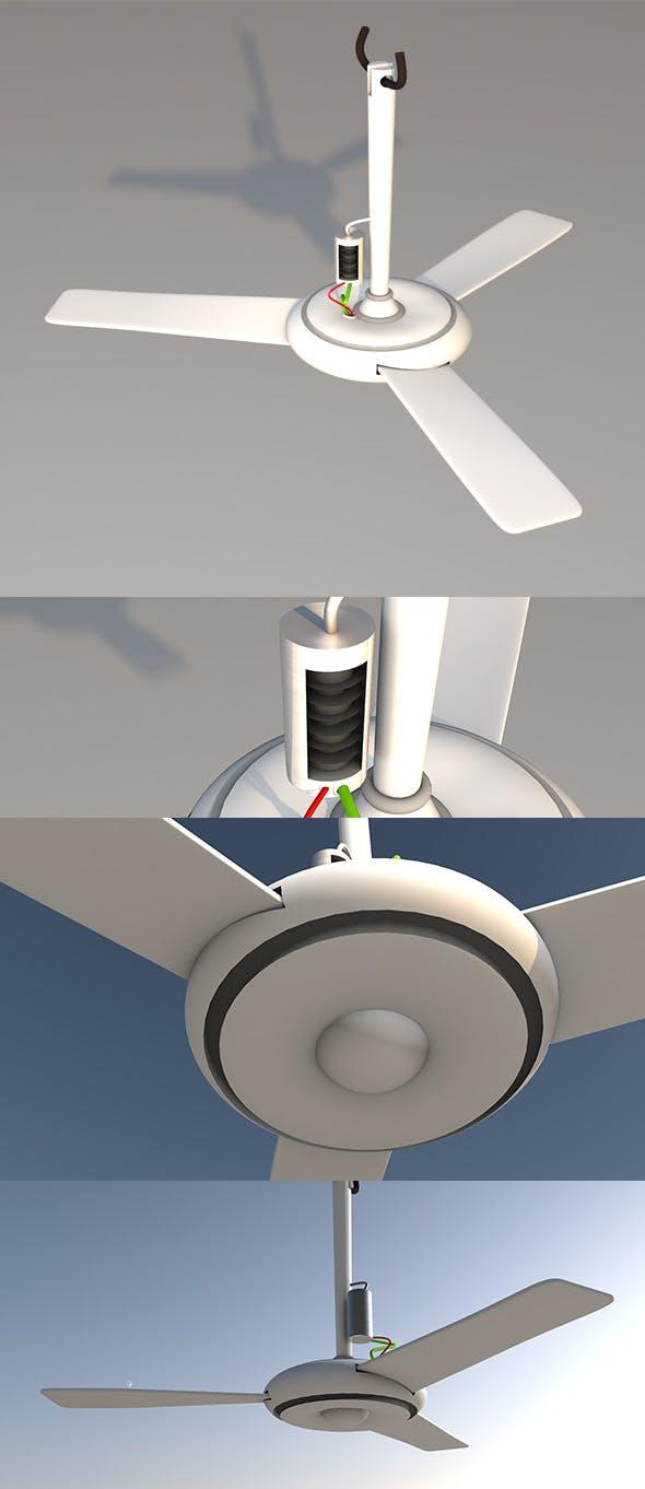 Simple Cleaning Fan - 3DOcean Item for Sale
