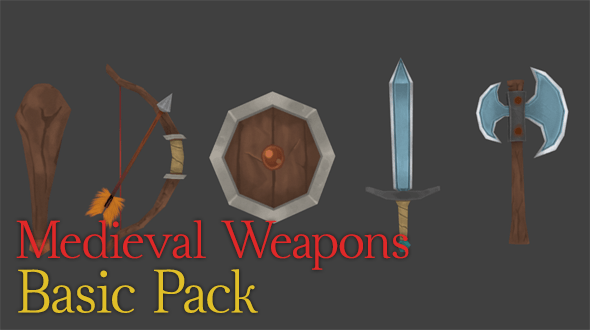 Medieval Weapons | Basic Pack - 3DOcean Item for Sale