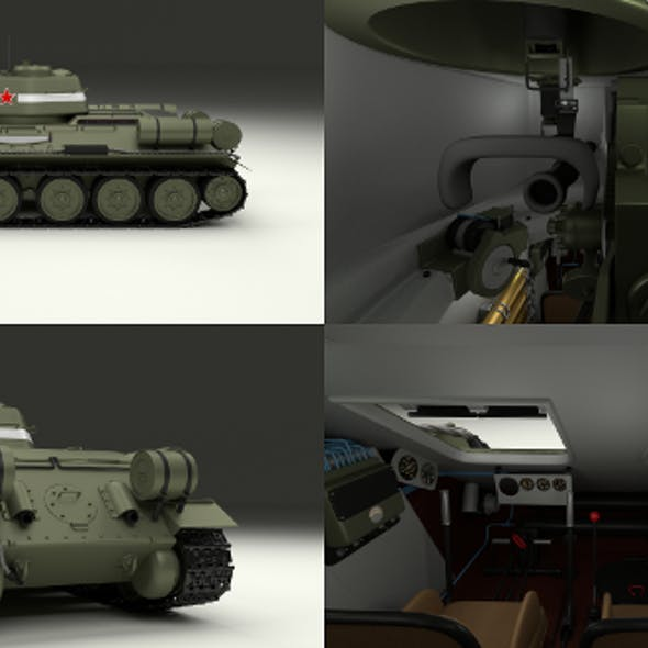 Blender 3D Military Vehicle Models from 3DOcean