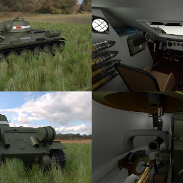 T34/76 Tank with Interior HDRI
