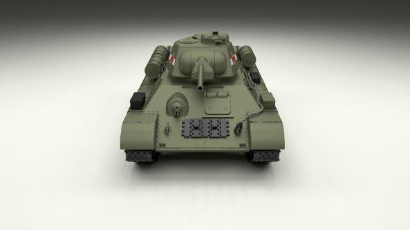 T34/76 Tank - 3DOcean Item for Sale