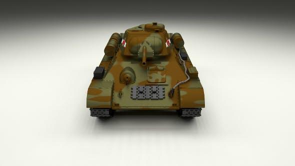 T34/76 Tank Camo - 3DOcean Item for Sale