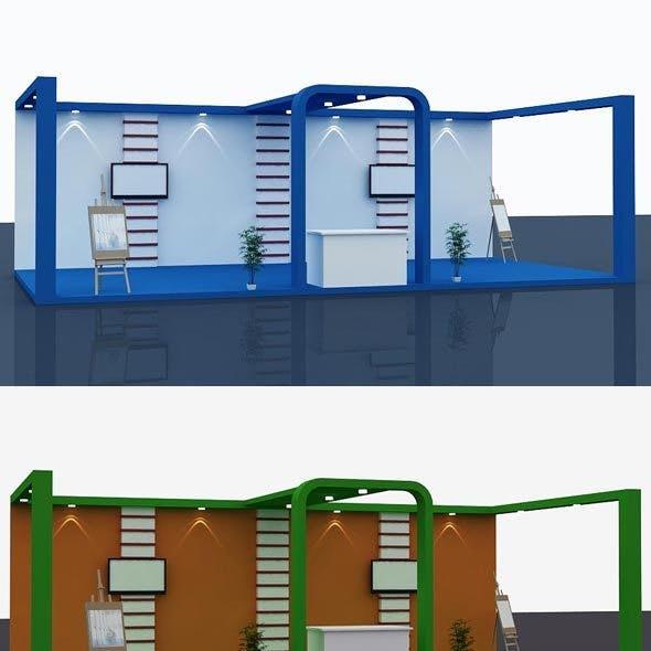 Stall Design 3d Model