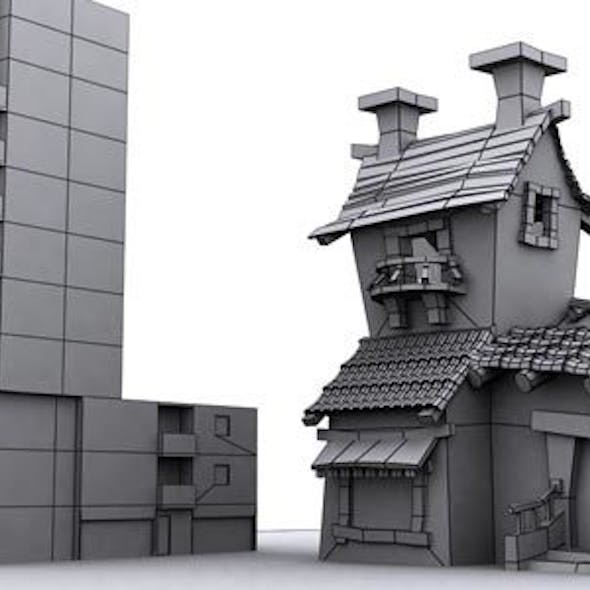 Low Poly Building Assets 5
