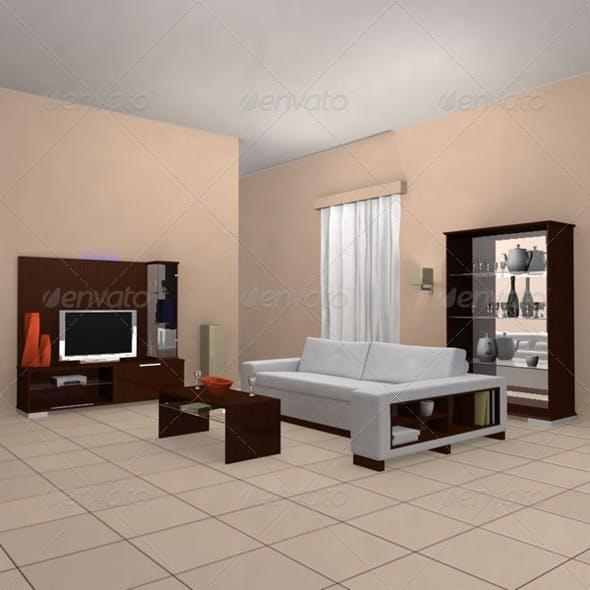 Living Room 2 - 3DOcean Item for Sale