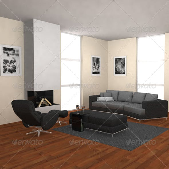 Living Room 3 - 3DOcean Item for Sale