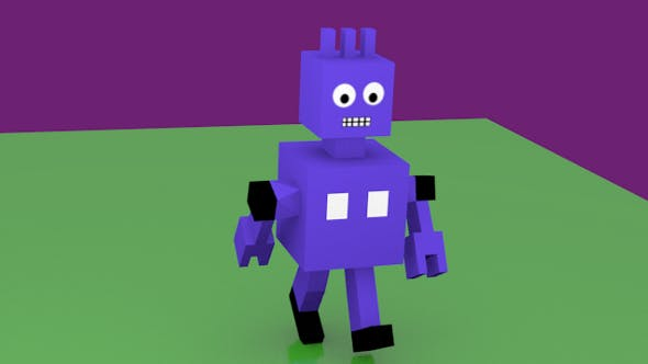 Animated Robot for games - 3DOcean Item for Sale