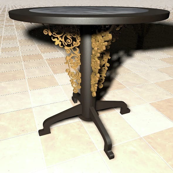 Rounded Table With Ornament