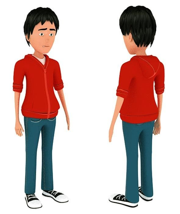 Boy 3d Model With Rig - 3DOcean Item for Sale