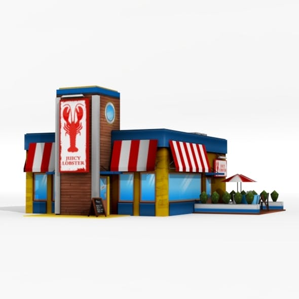 Low Poly Seafood Restaurant