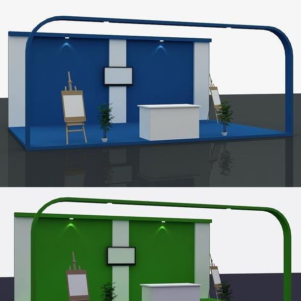 Stall Design 3d Model 1