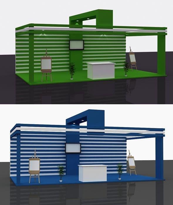 Stall Design 3d Model 2 - 3DOcean Item for Sale