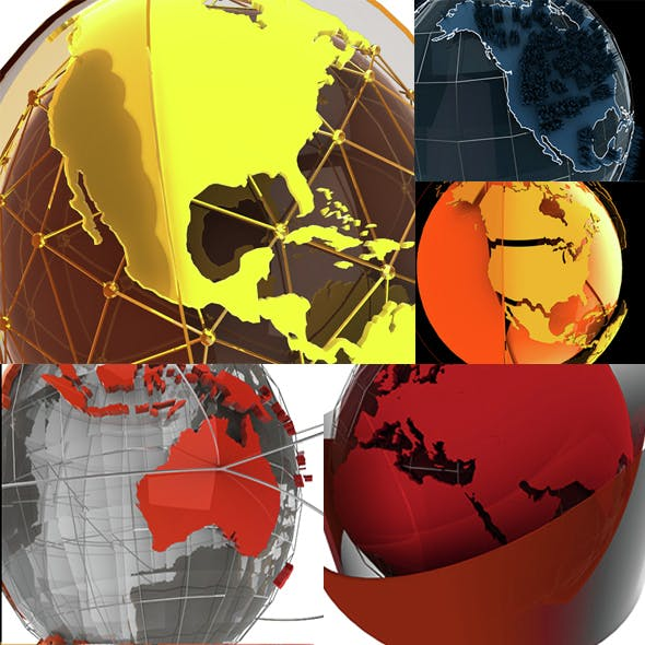 Motiongraphics Elements Globe  - 3DOcean Item for Sale