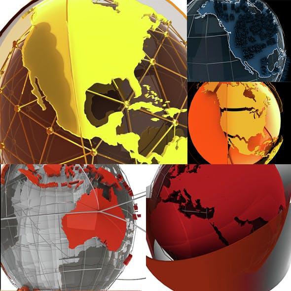 Motiongraphics Elements Globe