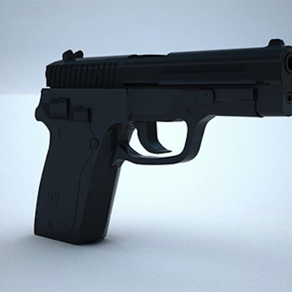 Low Poly 9mm Pistol