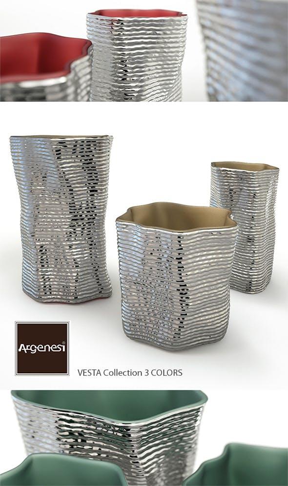 Silver vases by Argenesi Vesta series - 3DOcean Item for Sale