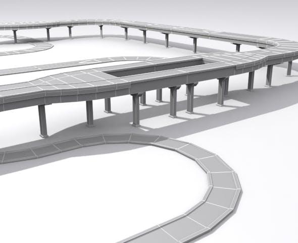 Road And Highway Set - Base - 3DOcean Item for Sale