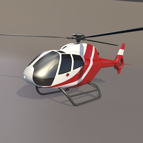 Eurocopter Colibri EC-120B helicopter - 3DOcean Item for Sale