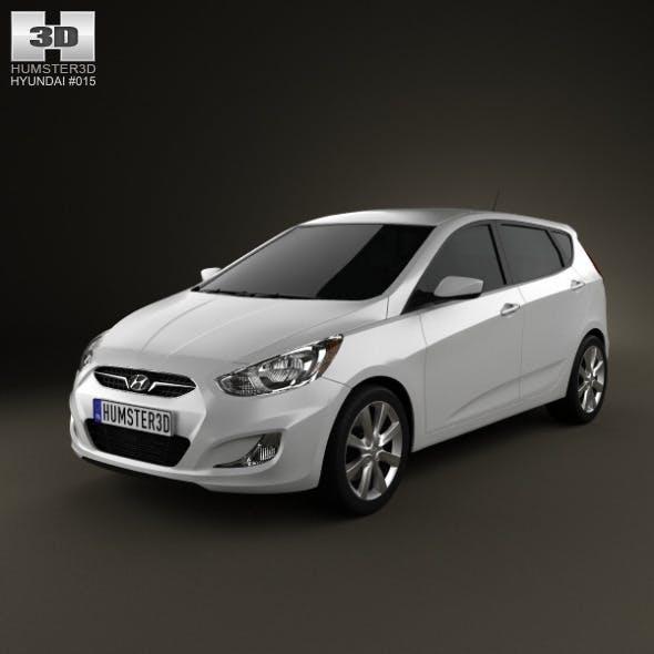 Hyundai Accent (i25) Hatchback 2012 - 3DOcean Item for Sale
