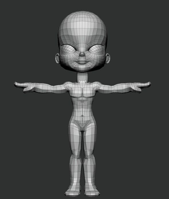 Cartoon Boy Base - 3DOcean Item for Sale