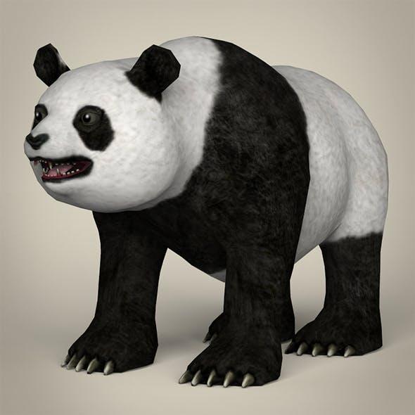 Low Poly Realistic Giant Panda