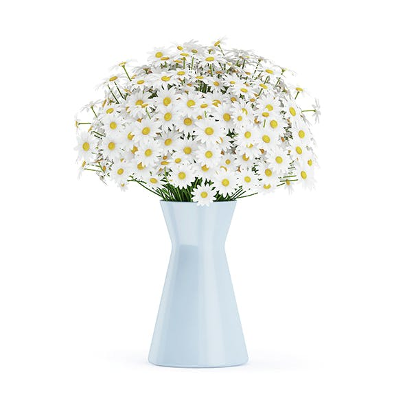 Small Daisies in Blue Vase