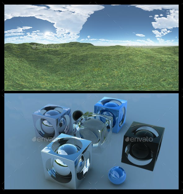 Open Grass Field 4 - HDRI - 3DOcean Item for Sale