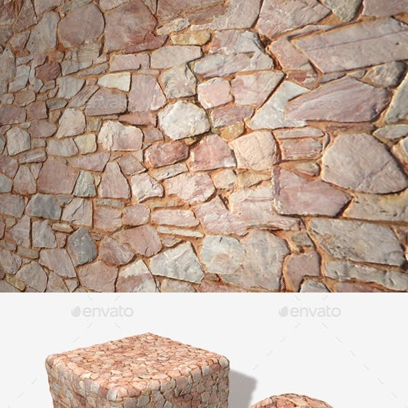 Pink Sandy Stone Wall Seamless Texture
